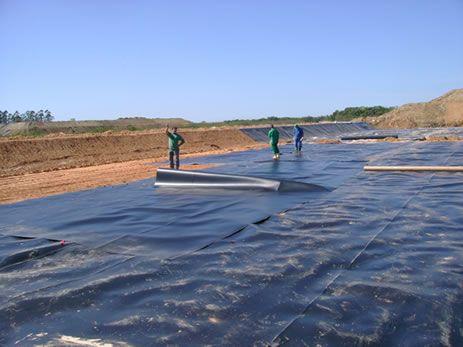Foto do sistema de proteção ambiental